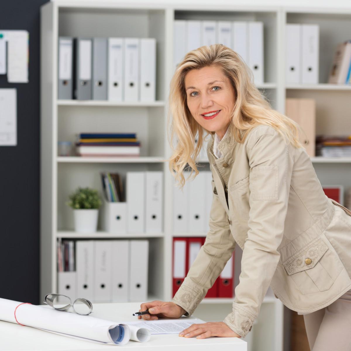 Over 55 Skills At Work - Female Senior Entrepreneur